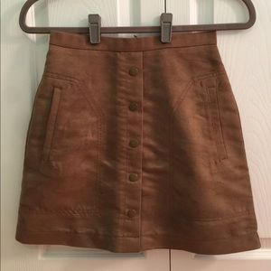 H&M Corduroy Skirt with Buttons